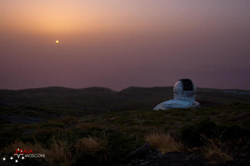 Tramonto dal Gran Telescopio Canarias